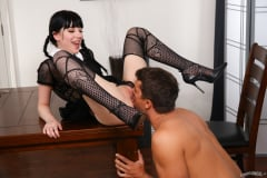 Charlotte Sartre - A Very Adult Wednesday Addams - Dinner With New-Daddy (Thumb 05)