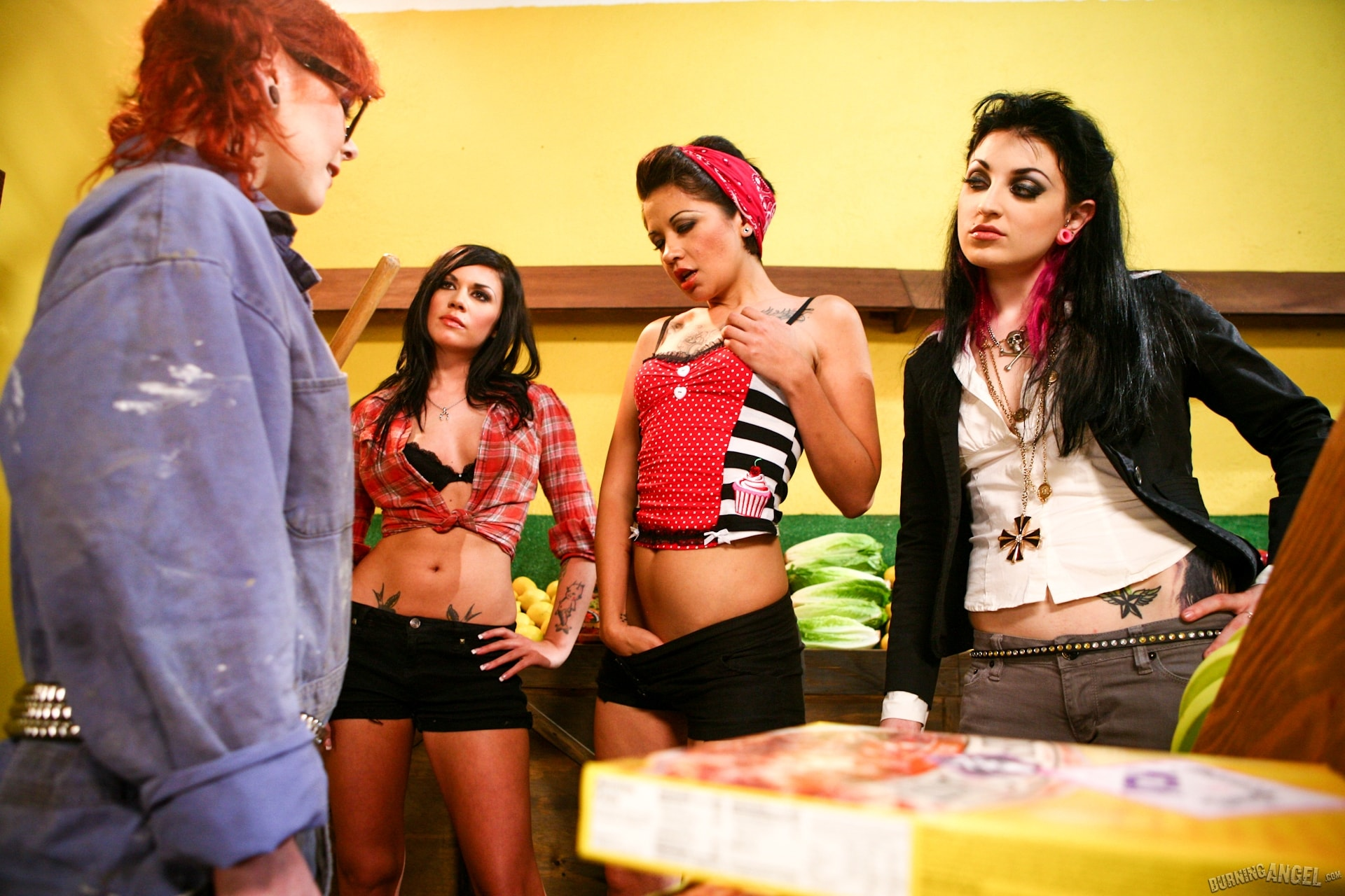 Burning Angel 'Four Girls One Mop' starring Andy San Dimas (Photo 3)