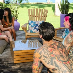 Charlotte Sartre in 'Burning Angel' Fucking Young Whores On Vacation - Orgy (Thumbnail 5)