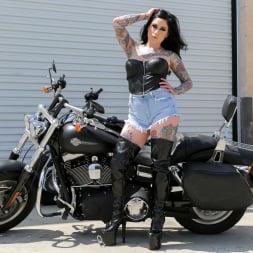 Hayden Hellfire in 'Burning Angel' Motorcycle Stripper (Thumbnail 1)