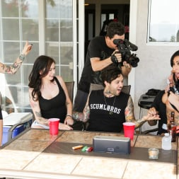 Joanna Angel in 'Burning Angel' Between Scenes Hang Out Sex 2 (Thumbnail 1)