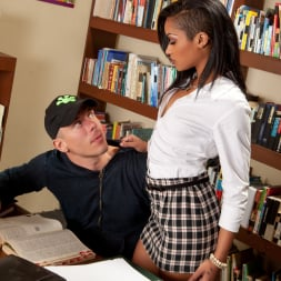 Skin Diamond in 'Burning Angel' Skin Has Sex In A Library (Thumbnail 1)