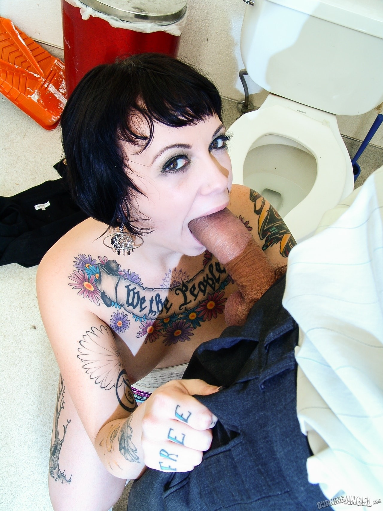 Burning Angel 'Tattoo Shop Pit Stop' starring Sparky Sin Claire (Photo 5)