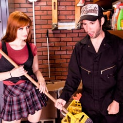 Violet Monroe in 'Burning Angel' What Happens In The Janitor's Closet Should Stay In The Janitor's Closet (Thumbnail 1)